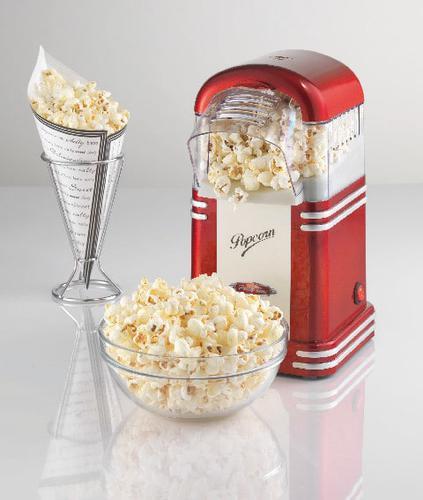 automat do popcornu Ariete 2954 i gotowy popcorn