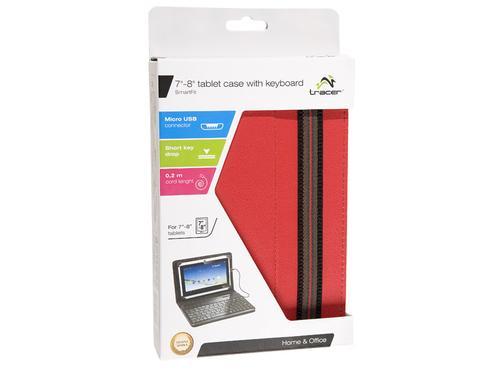 Tracer Etui z klaw. do Tabletu 7'-8' SmartFit Red
