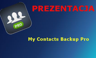 My Contacts Backup Pro Prezentacja