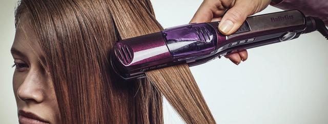 prostowanie włosów prostownicą BaByliss
