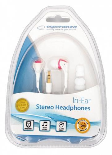 ESPERANZA Słuchawki EH127 STEREO Douszne Kanałowe Z Wkładkami Gumowymi