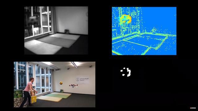 Dron rozpoznaje przeszkody z pomocą trzech kamer