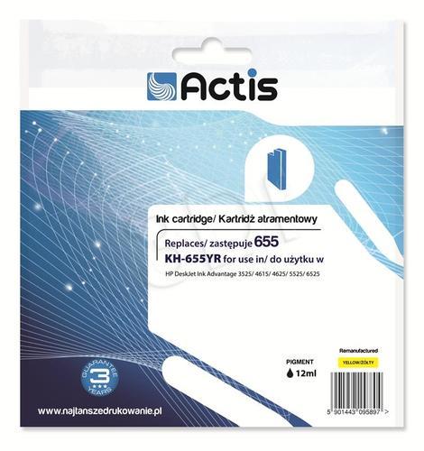 Actis KH-655YR tusz żółty do drukarki HP (zamiennik HP 655 CZ112AE) Standard