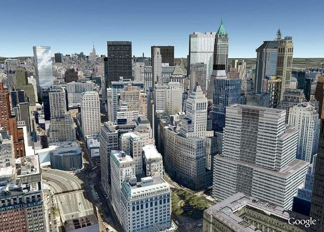 Nowy York w Google Earth