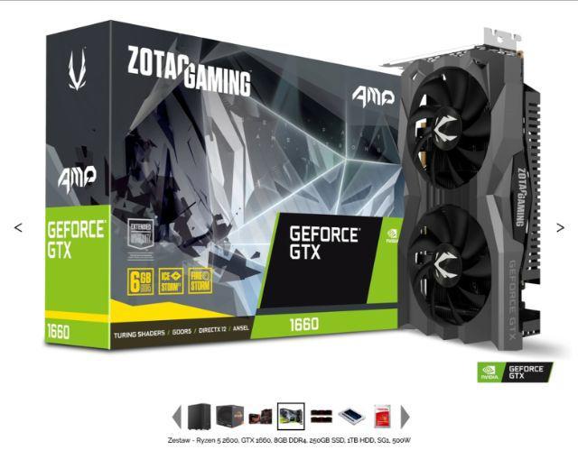 Komputer za 3129 zł z Zotac GTX 1660