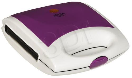 Opiekacz Adler AD 3020 violet (750W Biało-fioletowy)