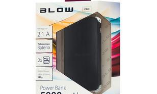 Blow Power Bank 5000mAh 2xUSB Czarny (Black)
