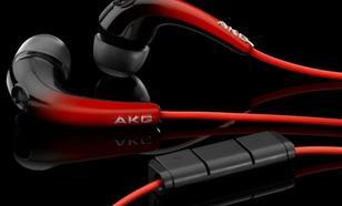 AKG K328 czarno-czerw Słuchawki z pilotem dokanałowe