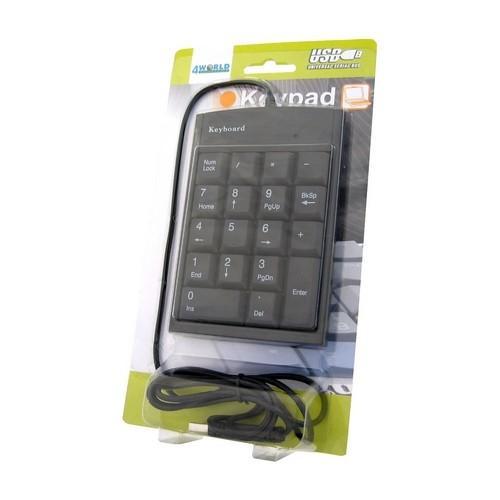 4World Klawiatura numeryczna USB do notebooka typu slim