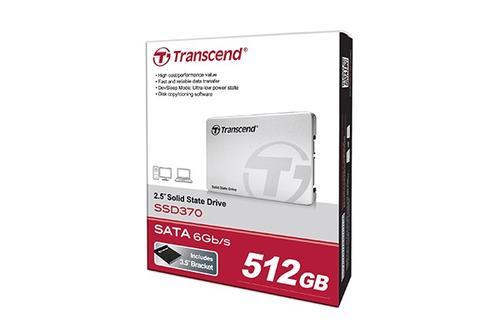 """Transcend SSD 370 512GB SATA3 2,5"""" 570/470 MB/s Aluminum CASE"""