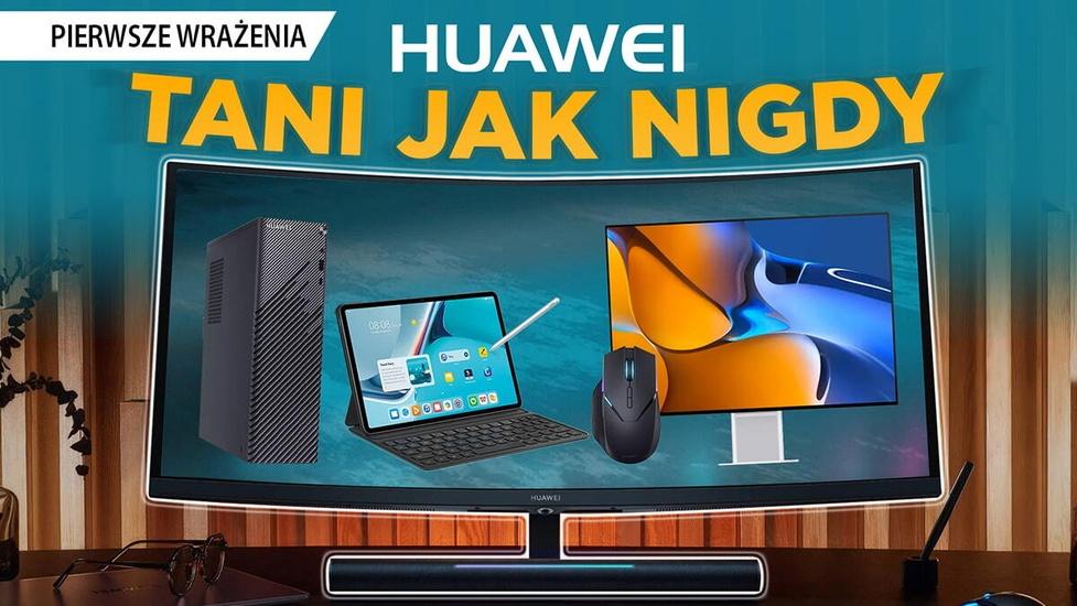 Monitory MateView, tablet MatePad z Harmony OS i inne - Huawei prezentuje nowe (i tanie!) sprzęty