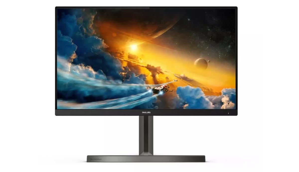 Philips Momentum 278M1R monitor na białym tle