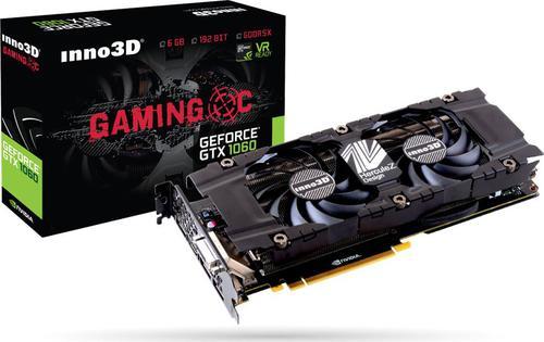 Inno3D GeForce GTX 1060 Gaming OC, 6GB GDDR5X, 192-bit