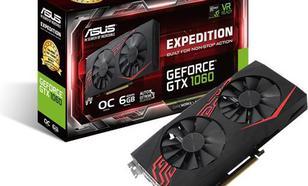 Asus GeForce GTX 1060 Expedition O6G 6GB GDDR5 (192 Bit) DVI-D, 2xHDMI, 2xDP, BOX (EX-GTX1060-O6G)