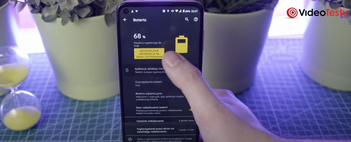 Motorola Moto G9 Plus pracuje długo na baterii