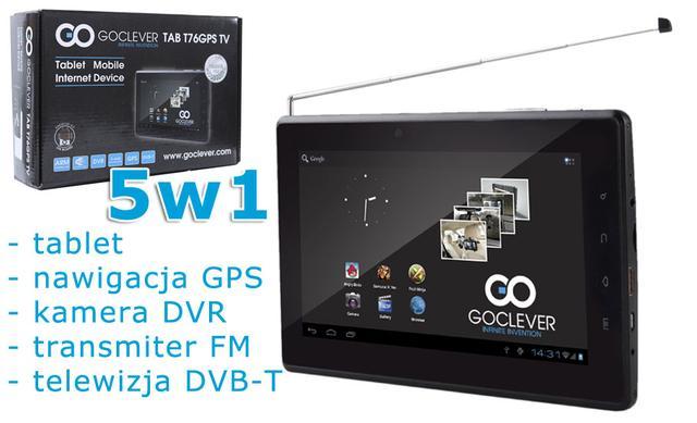 GOCLEVER TAB T76GPSTV – tablet, telewizor i nawigacja w jednym
