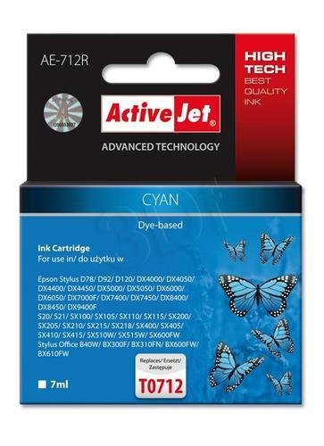 ActiveJet AE-712R tusz cyan do drukarki Epson (zamiennik Epson T0712) Premium