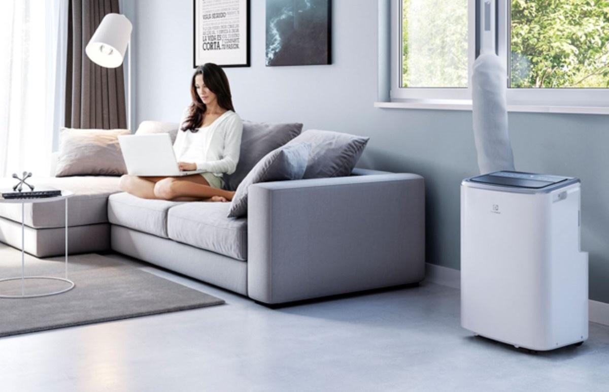 Klimatyzator Electroluxa w salonie
