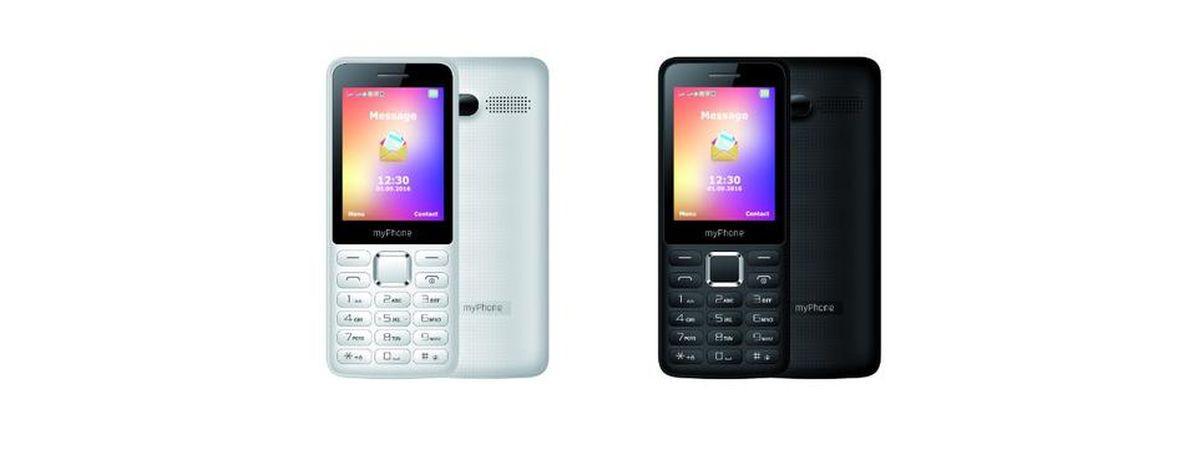 myPhone 6310 w kolorze białym i czarnym