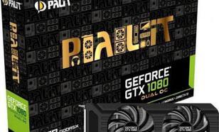 Palit GeForce GTX1080 DUAL OC 8GB GDDR5X (256 Bit) DVI, HDMI, 3DP, BOX (NEB1080U15P2D)