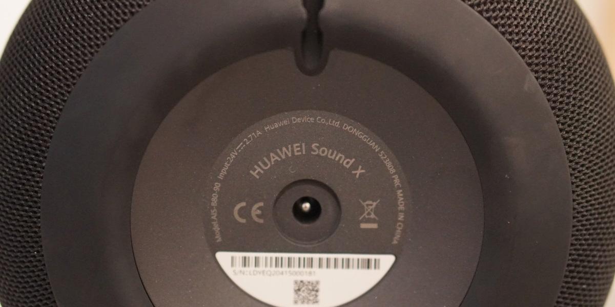 Jedyne złącze w Huawei Sound X to port ładowania