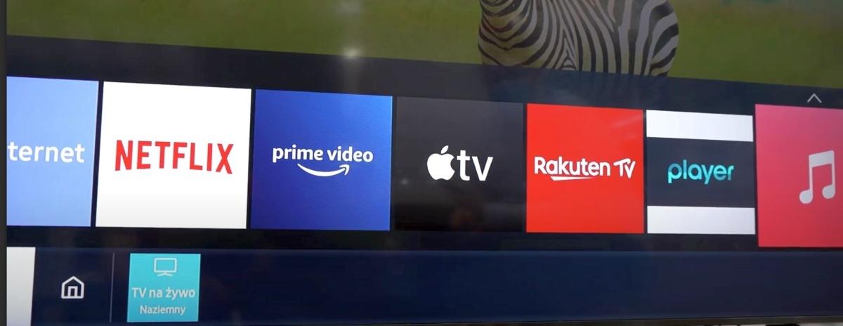 Lista aplikacji proponowanych oferuje największe serwisy streamingowe