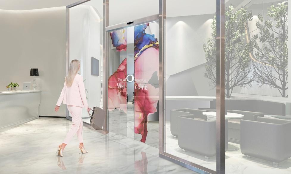 LG przedstawia przezroczyste drzwi OLED