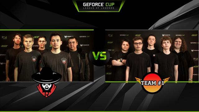 finalowe druzyny geforce cup team #1 team rebels