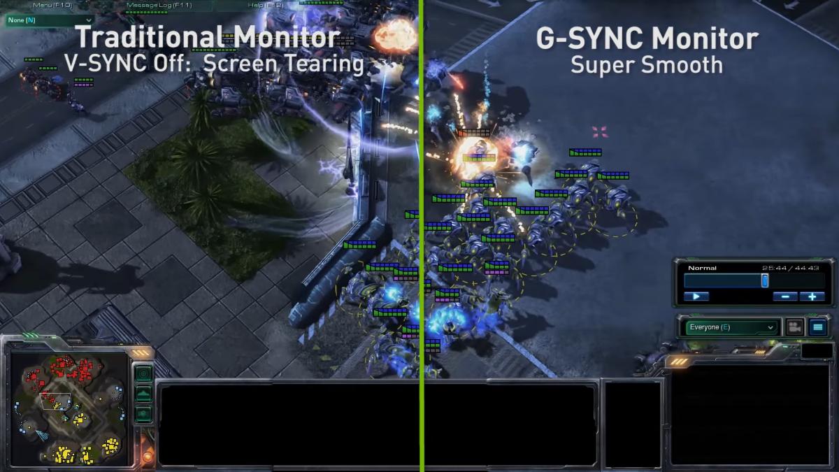 V-Sync vs G-Sync Nvidia pokaz