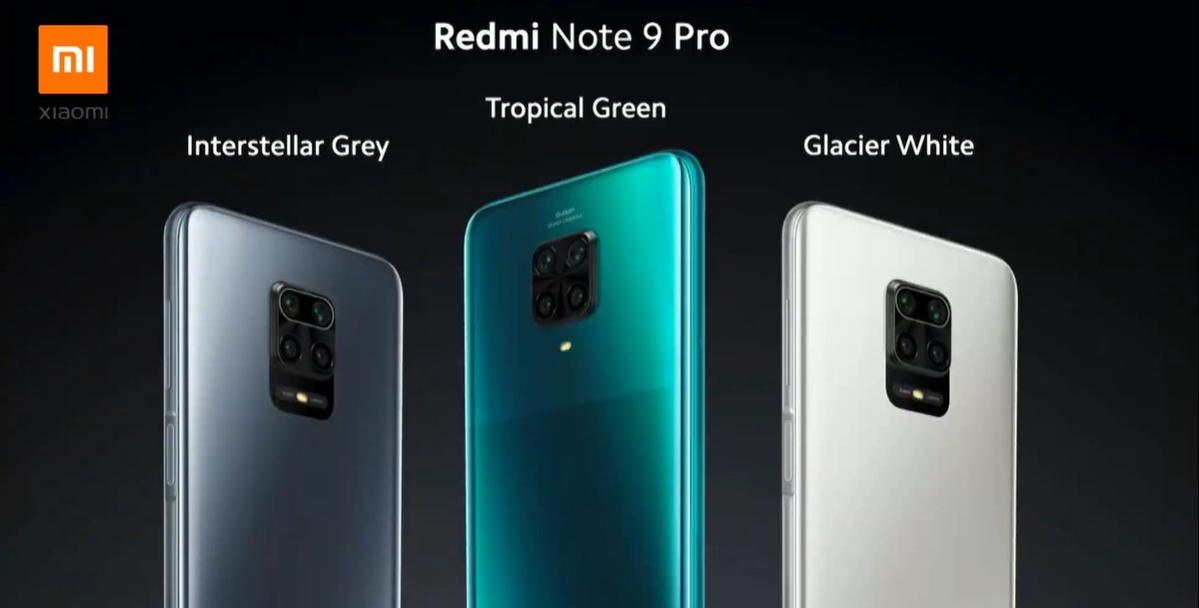 Redmi Note 9 Pro zaoferuje trzy wykończenia obudowy