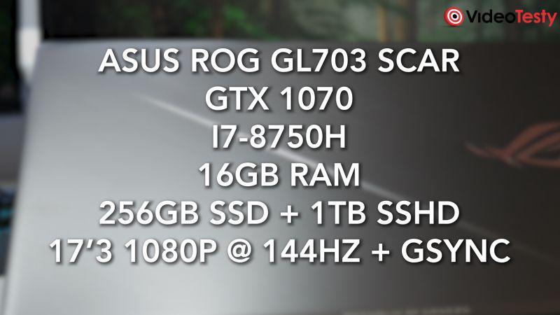 Asus GL703 specyfikacja