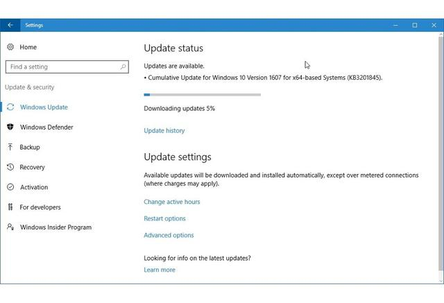 Aktualizacje systemu Windows 10