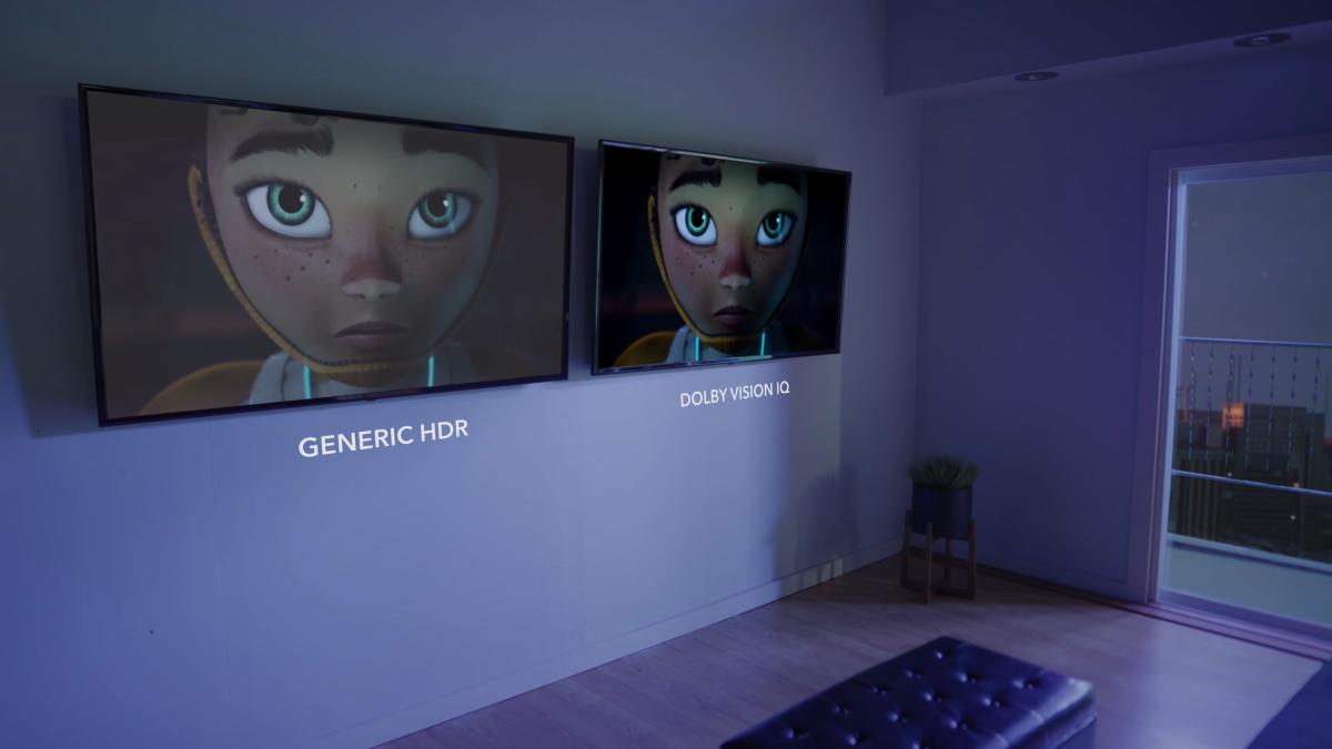 Dolby Vision IQ pokaz na ścianie