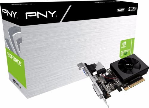 PNY Technologies GeForce GT 730 2GB DDR3 (64 bit) D-Sub, DVI-D, HDMI, BOX (GF730GTLP2GEPB)