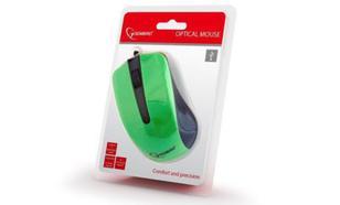 Gembird optyczna USB czarno/zielona (MUS-101-G)