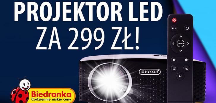 Hykker LED Vision 180 - Tani projektor dostępny w Biedronce!