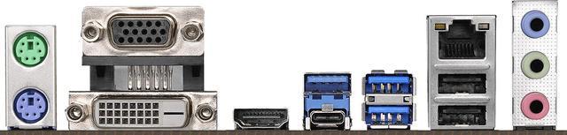 ASRock B360M PRO4 - porty z tyłu
