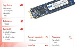 Aura Pro SSD 120GB Macbook Air 2010/2011 (285-500MB/s, 50k IOPS) SYNC NAND