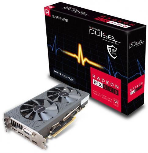 Sapphire Radeon RX 570 Pulse 8GB GDDR5 GDDR5 (256 bit) DVI-D, 2xHDMI, 2xDP (11266-36-20G)