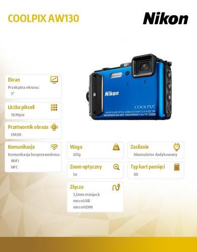 Nikon AW130 blue
