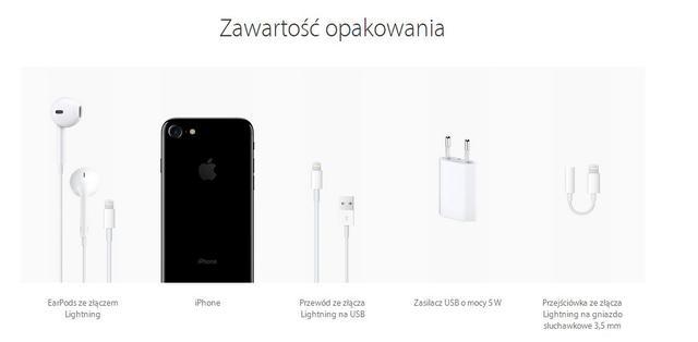 zawartość opakowania iphone 7
