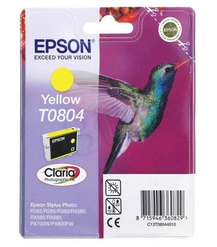 EPSON Tusz Żółty T0804=C13T08044011, 8 ml