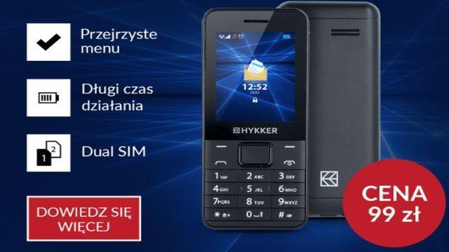 Hykker Elegant - Tani Telefon Prosto z Biedronki