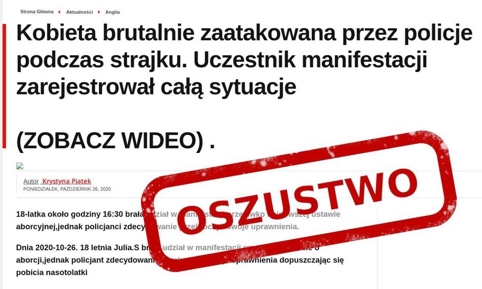 Internetowi oszuści żerują na protestach w Polsce