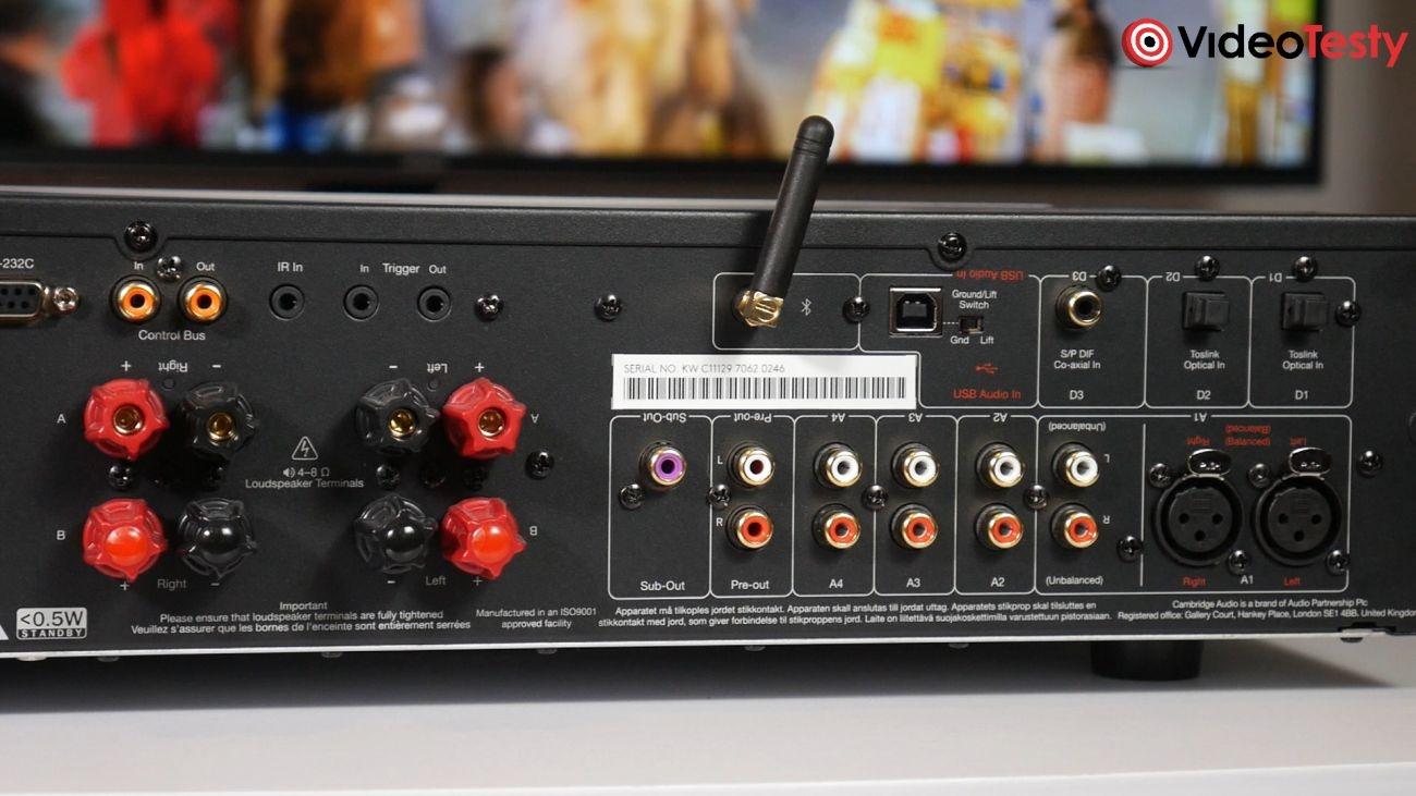 wzmacniacz zintegrowany Cambridge Audio CXA81 złącza z tyłu