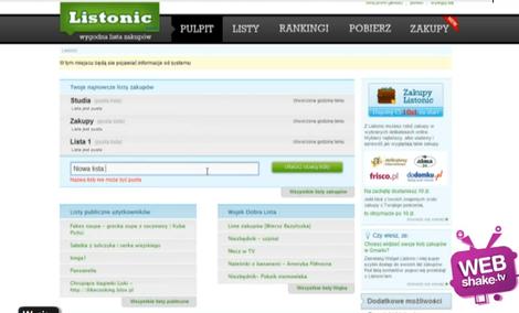 Listonic - mobilna lista zakupów