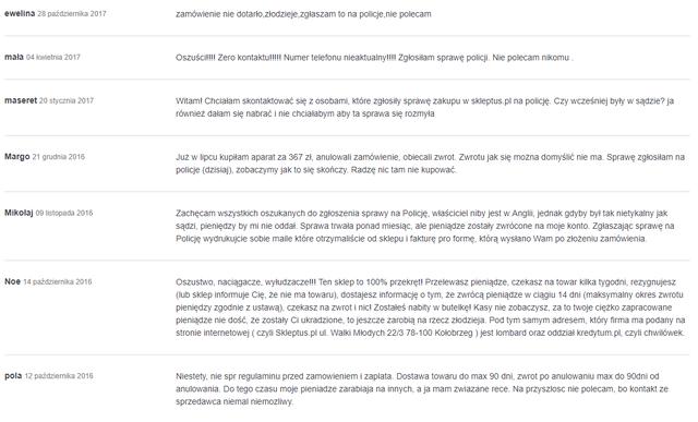 skleptus.pl - opinie