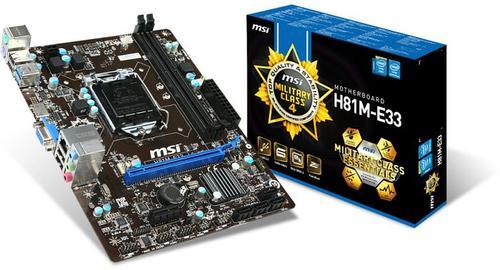 MSI H81M-E33 s1150 H81 2DDR3 USB3/GLAN/HD-audio uATX