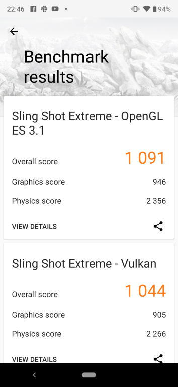 Xiaomi Mi A3 - wynik benchmarku 3D Mark