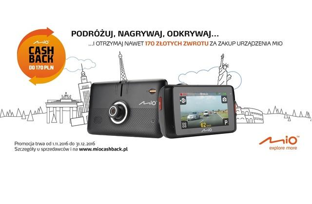 Zgarnij Wybrany Wideorejestrator Lub Nawigację Mio i Czekaj na Zwrot Pieniędzy